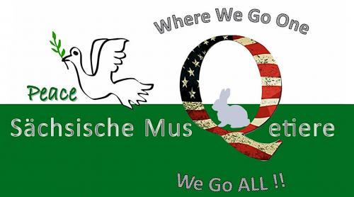 Sächsische MusQetiere Motiv Friedensflagge